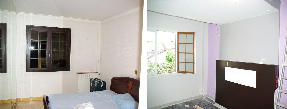 Avant - après le chambre