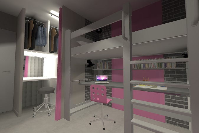 chambre d ado fille meuble coiffeuse pour chambre fille. Black Bedroom Furniture Sets. Home Design Ideas