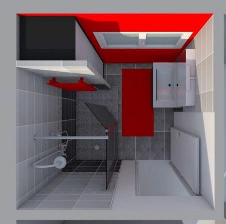 Salle de bain - vue de dessus