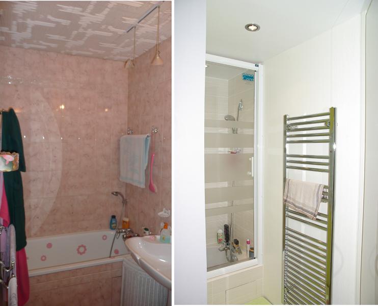 r novation de deux salles de bain 9 m 78 goeseco. Black Bedroom Furniture Sets. Home Design Ideas